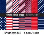 patriotic red white blue stars  ... | Shutterstock .eps vector #652804585