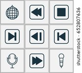 music icons set. collection of...