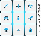 battle colorful icons set.... | Shutterstock .eps vector #652807642