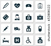 drug icons set. collection of... | Shutterstock .eps vector #652808122