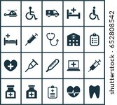 drug icons set. collection of... | Shutterstock .eps vector #652808542