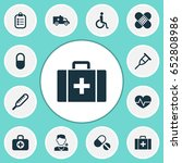 drug icons set. collection of... | Shutterstock .eps vector #652808986