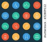 antibiotic outline icons set....   Shutterstock .eps vector #652809112