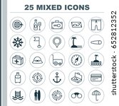travel icons set. collection of ... | Shutterstock .eps vector #652812352