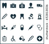drug icons set. collection of... | Shutterstock .eps vector #652813036