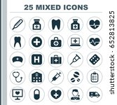 drug icons set. collection of... | Shutterstock .eps vector #652813825