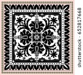 authentic silk neck scarf or... | Shutterstock .eps vector #652817668