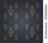 luxury gold seamless pattern... | Shutterstock .eps vector #652830262