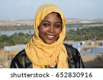 nubian girl stands in the... | Shutterstock . vector #652830916