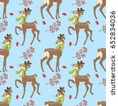 vector seamless pattern with... | Shutterstock .eps vector #652834036