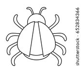 bug or beatle icon image  | Shutterstock .eps vector #652834366