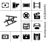 cinema icon. set of 13 filled... | Shutterstock .eps vector #652834492