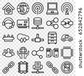 network icons set. set of 25... | Shutterstock .eps vector #652842796