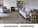 beautiful living room in new... | Shutterstock . vector #652843666
