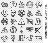 warning icons set. set of 25... | Shutterstock .eps vector #652844746