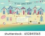 Beach Houses   Neat Row Of Tiny ...