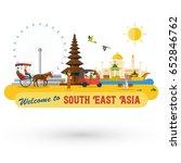 flat design  south east asia's... | Shutterstock .eps vector #652846762