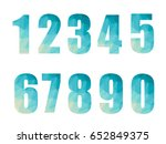 number geometric design on... | Shutterstock .eps vector #652849375