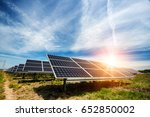 solar panel  photovoltaic ... | Shutterstock . vector #652850002