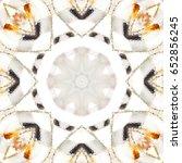 melting colorful symmetrical... | Shutterstock . vector #652856245
