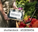 fresh natural organic product... | Shutterstock . vector #652858456
