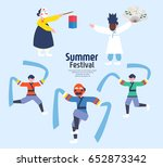 exciting summer performance | Shutterstock .eps vector #652873342