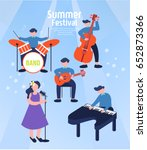 exciting summer performance | Shutterstock .eps vector #652873366