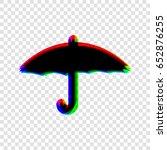 umbrella icon. vector. black...