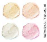 shimmery makeup samples | Shutterstock . vector #652885858