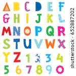 cute alphabet | Shutterstock .eps vector #652887202