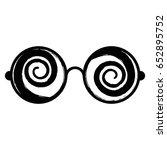 crazy eyes icon | Shutterstock .eps vector #652895752