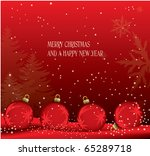 christmas theme card | Shutterstock .eps vector #65289718