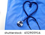 medical stethoscope twisted in... | Shutterstock . vector #652905916