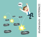 businessman use trick to escape ... | Shutterstock .eps vector #652908622