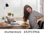 young attractive businesswoman... | Shutterstock . vector #652915966