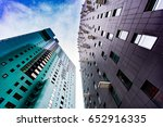 modern abstract architecture | Shutterstock . vector #652916335