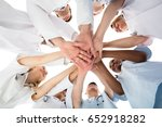 low angle view of smiling... | Shutterstock . vector #652918282