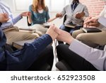 close up of people holding each ... | Shutterstock . vector #652923508