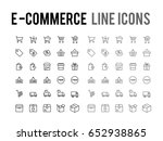 online shopping vector line... | Shutterstock .eps vector #652938865