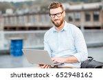 handsome hipster businessman... | Shutterstock . vector #652948162