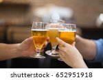 closeup of three glasses of... | Shutterstock . vector #652951918