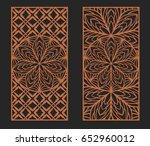 laser cutting set. wall panels. ... | Shutterstock .eps vector #652960012