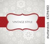 template frame design for xmas... | Shutterstock .eps vector #65296483