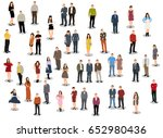 collection of people stand ...   Shutterstock . vector #652980436