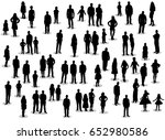 silhouette people men women... | Shutterstock . vector #652980586