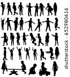 collection of silhouettes of... | Shutterstock . vector #652980616