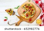 delicious summer appetizer ... | Shutterstock . vector #652982776