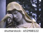 detail of a cemetery. statue of ... | Shutterstock . vector #652988122