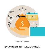 financial calendar  monthly... | Shutterstock .eps vector #652999528