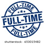 full time blue round grunge... | Shutterstock .eps vector #653015482